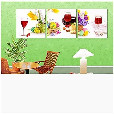 FanVass cucina pittura stampe manifesto moderno frutti muro stampa su tela 3pcs / set (senza cornice) , Painting