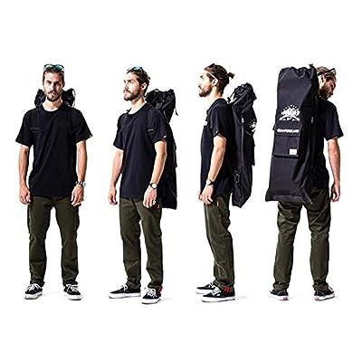 cuepar Multifunktionales Design professionelle elektrische Skateboard Tasche einzelne Schulter doppel Rocker elektrische Kordelzug Skateboard Rucksack Anti-wear silikon pad