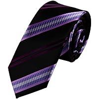 Perfezione EAE1A26 regalo di modo Mens seta multicolore Skinny Cravatta Regalo Di (Ombra Stripe Tie)