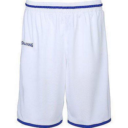 Spalding Move Kinder Shorts, weiß/Royal, 152