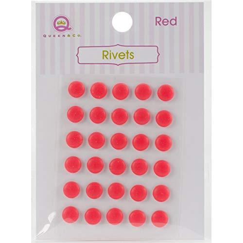 775326fed00a2 Queen et Co et Co Rivets 6 mm Autocollant 1-Red, d'autres, Multicolore