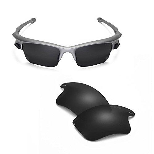Walleva Ersatzgläser oder Gläser/Gummi für Oakley Fast Jacket XL Sonnenbrille - 44 Optionen erhältlich - Schwarz - Einheitsgröße