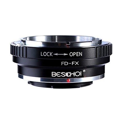 Beschoi FD-FX Objektiv Adapter für Canon FD Objektiv auf Fujifilm X-Mount Bajonett Systemkamera Fuji X-Pro1 X-Pro2 X-E1 X-E2 X-M1 X-A1 X-A2 X-A3 X-A10 X-M1 X-T1 X-T2