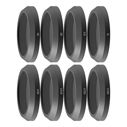 freewell Alle Day-Camera Objektiv Filter-Kit 8Stück ND4, ND8, ND16, CPL, ND8/PL, ND16/PL, ND32/PL, ND64/PL Made für Verwendet mit Parrot Anafi Drone