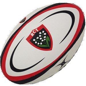 Toulon - Ballon de Rugby Réplique Blanc/Boir/Rouge - taille 5
