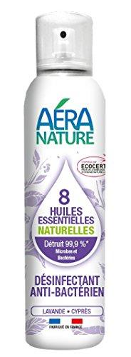 AERA NATURE : Désinfectant,désodorisant antibactérien, contrôlé ECOCERT aux 8 huiles essentielles\
