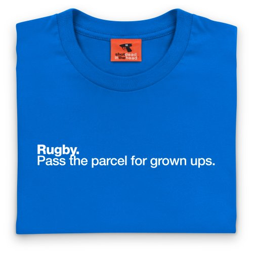 Rugby - Pass The Parcel T-Shirt, Herren Royalblau ...