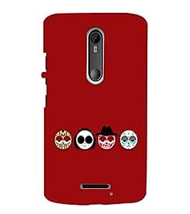 EPICCASE Scary Faces Mobile Back Case Cover For Moto X 3rd Gen (Designer Case)
