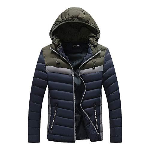 Bazhahei uomo top,uomo cappotto in cotone mimetico,uomo giacca con cappuccio con cerniera,piumino giacca uomo manica lunga caldo giubbotto giù ultraleggeri