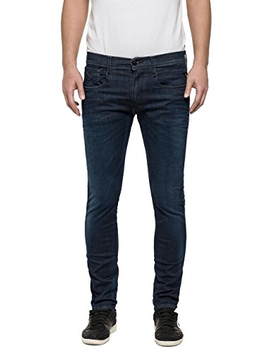 Replay Anbass, Jean Slim Homme blue