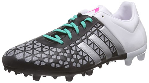 adidas Herren Ace 15.3 Fg/Ag Fu脽ballschuhe Schwarz (Core Black/Matte Silver/Ftwr White)