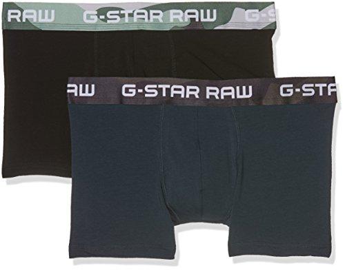 G-STAR RAW Herren Boxer Classic Trunk Camo 2 Pack Mehrfarbig (Legion Blue/Dk Black 9050)