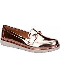Zapato Plano de Charol Disponible en Distintos Colores. Detalle en la Pala. Puntera Redonda. Altura de la Suela 4.0 cm. e6YEeSE