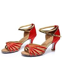HCCY Zapatos Latinos de Mujer Zapatos Modernos de Mujer Zapatos de Baile de  salón para Mujer de Adultos Zapatos de Baile de tacón… 50c307428d9b