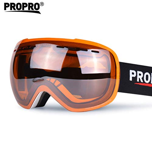 Doppel-Anti-Fnebel Spherical Large Lens Ski Brille Snow Mirror Ski Brille für Profi-Skifahren,Orange