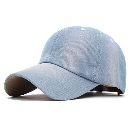 Llgbqm Baseballmütze Denim Blank Baseball Caps Hüte Für Männer Fashion Washed Jeans Frauen Knochen Männer Casual Dad Cap Hüte Persönlichkeitshut (Color : Light Jean, Size : 5561CM) - ära Neue Baseball-hüte
