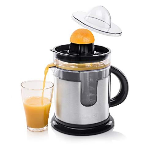 Princess 201975 Duo Juicer - Exprimidor con innovador depósito de zumo adicional, diseño de acero inoxidable