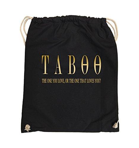 Comedy Bags - TABOO - LOGO2 - Turnbeutel - 37x46cm - Farbe: Schwarz / Pink Schwarz / Gold