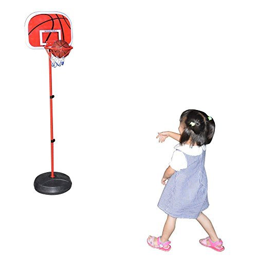 Blomiky 58 Inch 63-150cm Small Mini Portable Adjustable Metal Basketball Hoop Stands Backboards