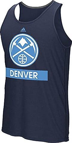 NBA Denver Nuggets Men's Loud & Proud Climalite Ultimate Tank Top, XX-Large, Navy
