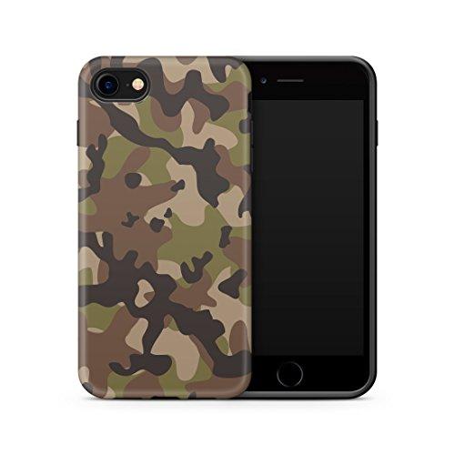 iPhone 7 / 8 Hülle, Cujas Weiche Camouflage TPU Silikon Schutzhülle Blickdicht mit IMD Technologie Camo Militär Muster Case Schutz Handyhülle (iPhone 7 / 8 Grün)