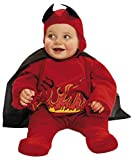 My Other Me Me-203262 Disfraz de diablillo con Capa para niño, Color Rojo, 0-6 Meses (Viving Costumes 203262)