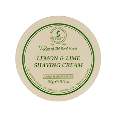 Taylor of Old Bond Street 150g Lemon and Lime Shaving Cream Bowl