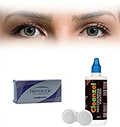 Freshlook Colorblends Contact Lens with Lens Case & Solution - 2 Pieces (-1.75,Turquoise)