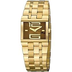 Lotus 15443-2 - Reloj analógico de mujer de cuarzo con correa de acero inoxidable dorada