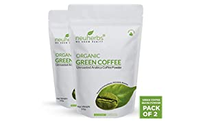 Neuherbs Organic Green Coffee Beans Powder for Weight Loss 200g (Pack of 2)