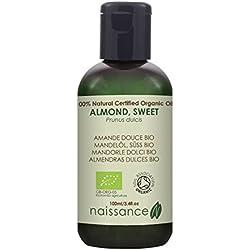 Almendras Dulces BIO - Aceite Vegetal Prensado en Frío 100% Puro - Certificado Ecológico - 100ml