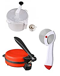 GTC COMBO OF DETACHABLE RED ROTI MAKER, DOUGH MAKER AND PIZZA CUTTER