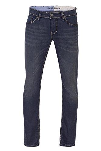 Camp David Herren Jeans Slim Leg TIGHT LEG USED REGULAR FIT, Farbe: Grau, Größe: 32/32