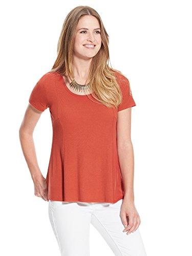 Balsamik - Tee-shirt spécial ventre rond, stature moins d'1,60 m - femme Terre cuite