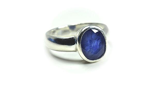jewelryonclick Pierre saphir bleu 2,5 ct naturelle