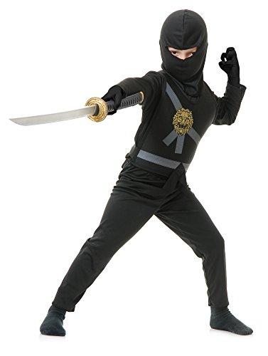 Garmadon Kostüm Ninjago - Charades Ninja Master schwarz Kinder Kostüm - Ninjago (Kinder Small 6/8)