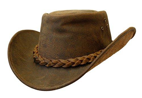Hüte Cowboy Leder (10% Rabatt extra: Lederhut Bulldog mit formbarer)