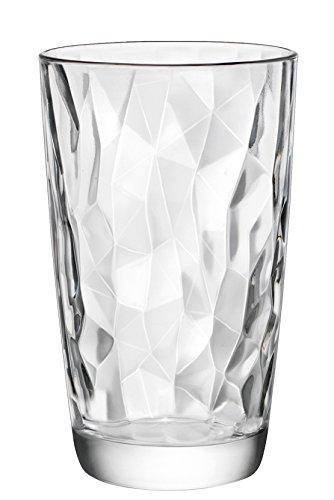 Bormioli Rocco 350240 Diamond Trasparente Longdrinkglas, 470 ml, Glas, transparent, 6 Stück