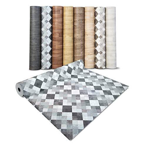 casa pura® CV Bodenbelag Toscana Aqua - extra abriebfester PVC Bodenbelag (geschäumt) - Naturstein Marmor Mosaik - edle Steinoptik - Oberfläche strukturiert - Meterware (200x250 cm)