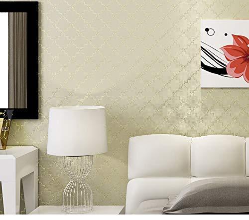 Vliestapete Vintage Tapete 3D 5.3㎡ Luxury Metallic Trellis Square Geometric Striped Wallpaper For Living Room Foam Textured Wall Paper Home Decor - Textured Foam