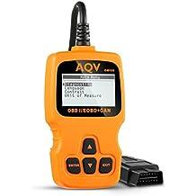 OBD2, AQV Coche Diagnóstico Herramienta OBD Escáner Lector de Código OM123 Lea y Aclare el Código Avería Herramienta Ligera Exploración Luz del Motor para Todos los Vehículos Después de 2000