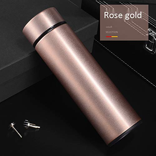guangpeng Thermos Cup Men's Portable Business Cup Straight Cup Rose Gold 500ml Gold-rose-cup