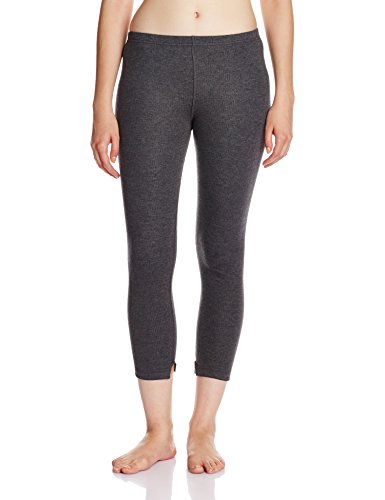 Jockey Women's Cotton Thermal Leggings (2520-0105-CHAML!_Charcoal Melange!_Small)