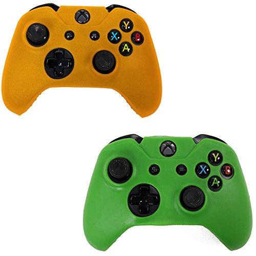 Manette sans fil Xbox 360, Jamswall 2,4GHz fin et manette de jeu pour Xbox 360PC Windows 7, 36/38/(Noir) jaune