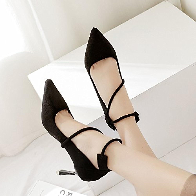 ZHZNVX La version coréenne de l'aHommes de avec Matt anneau pied sangle anneau Matt lumière pointe High Heels, le port des chaussures...B07CGKKZR3Parent 53f0b3