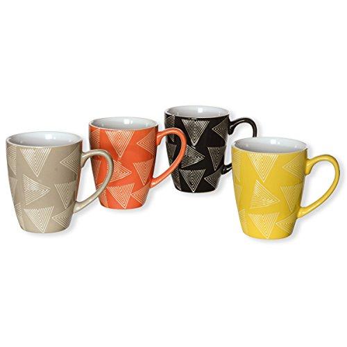 TAO Coffret de 4 grands mugs 28cl - Matière : Faience - Couleur : Multicouleurs - Mugs fantaisie - Bruno Evrard