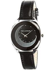 Ted Lapidus - A0629ANPN - Montre Femme - Quartz Analogique - Cadran Noir - Bracelet Cuir Noir