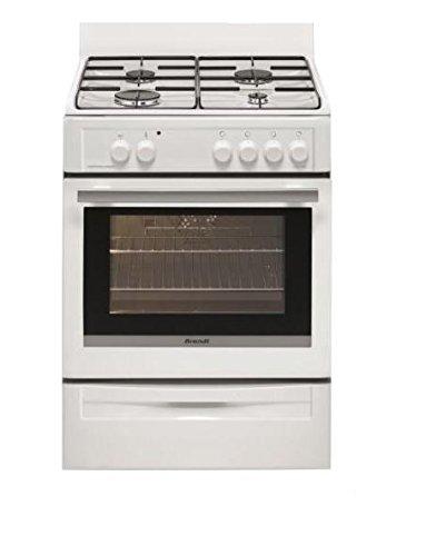 Brandt BCG6640W Autonome Cuisinière à gaz A Blanc four et cuisinière - fours et cuisinières (Autonome, Blanc, Rotatif, 1,5 m, Cuisinière à gaz, Butane/Propane)
