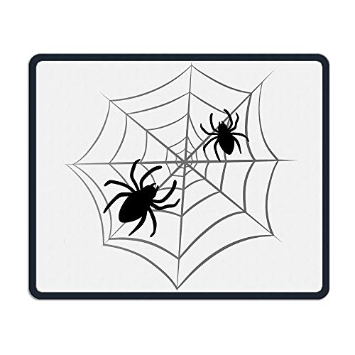 Mouse Pad Halloween Spider Web Rectangle Rubber Mousepad Length 8.66 Width 7.09 inch Gaming Mouse Pad with Black Lock Edge (Spider Halloween Dog)