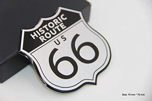 B479 Historic Route 66 Emblem Badge auto aufkleber 3D car Sticker - Badge Emblem